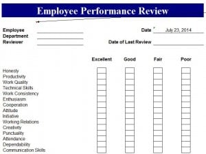 Employee Performance Appraisal Template - Excel Templates