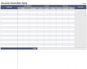 Accounts Receivable Aging Workbook Template