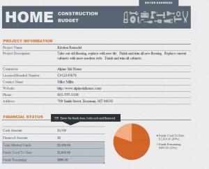Home Renovation Budget Template Excel Templates