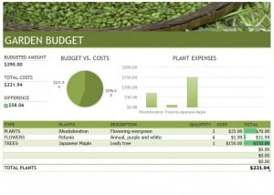 Landscaping Budget Template