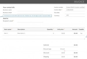 PayPal Invoicing Template
