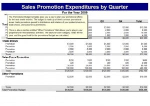 Promotions Budget Template
