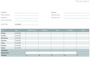 Timesheet Calculator Template