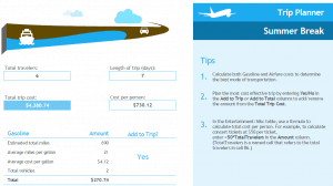 Vacation Cost Planner Template
