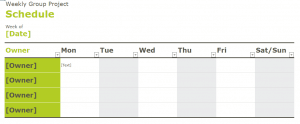 Weekly Group Project Template